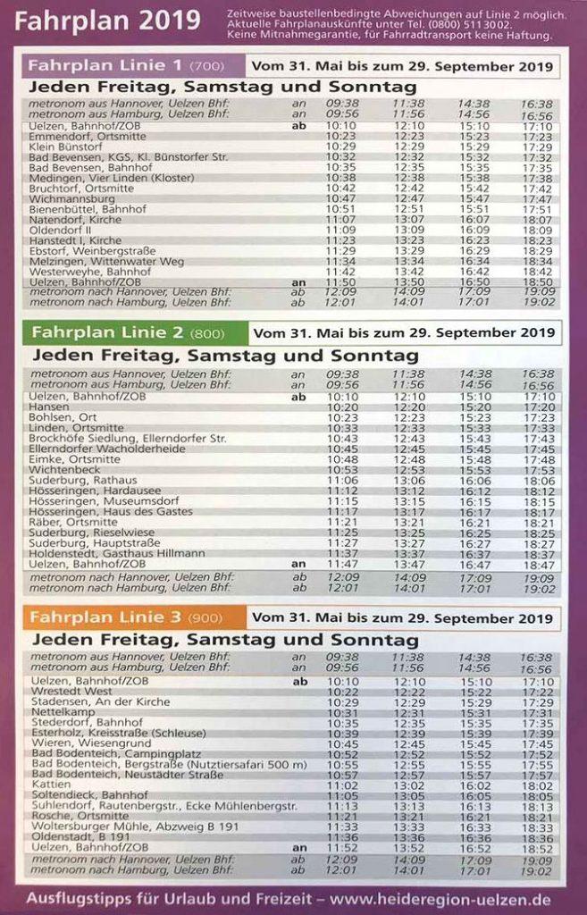 Entdecker-Bus Fahrplan 2019